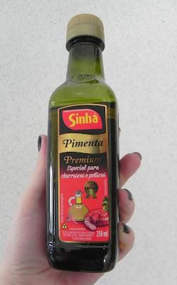 azeite com pimenta marca sinha