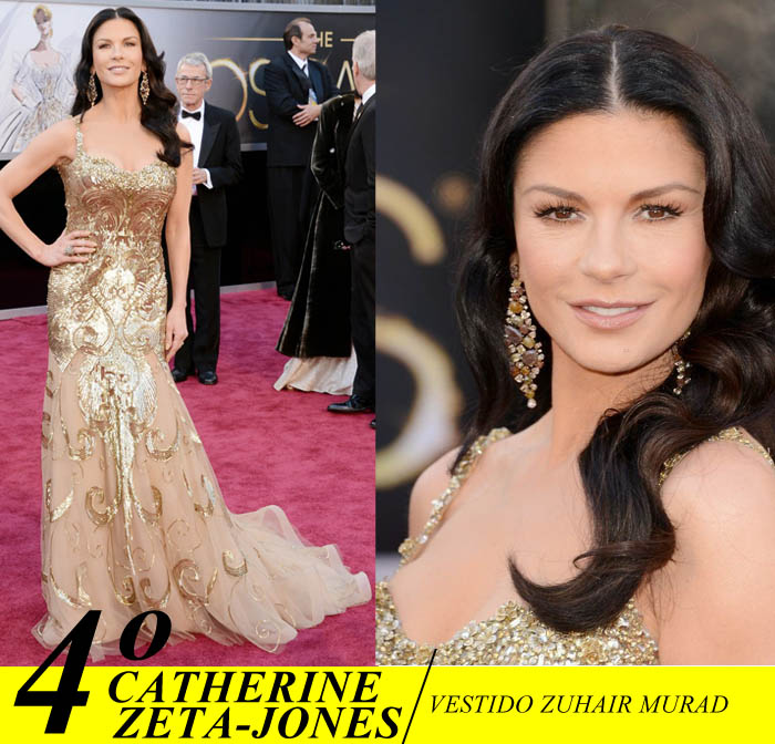 A NOITE DO OSCAR_Top 5_Mais bem vestidas do Oscar 2013_Catherine Zeta-Jones_ Zuhair Murad