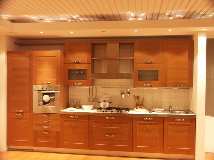 Wood kitchen cabinets pictures