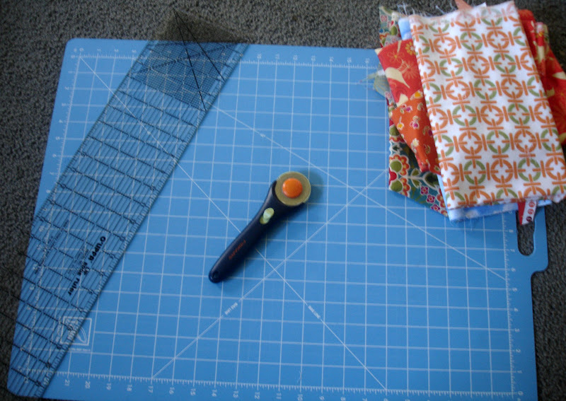 "how to cut a straight line ""quilting basics""  seven alive,"
