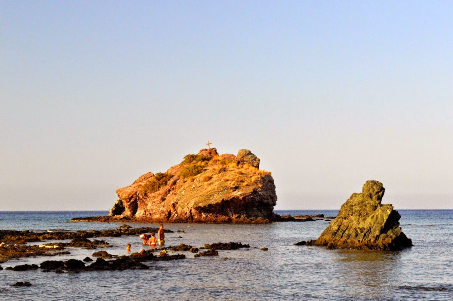 Baths of Aphrodite, in Cyprus. There is also a trail that you can walk around.