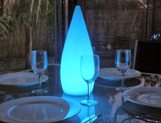 LED Tear Drop Glow LED Furniture Accent piece