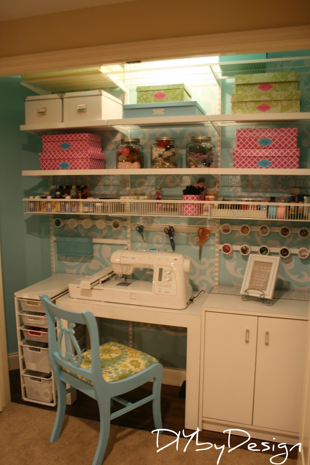 Diy by design diy craft closet projects for Design a craft room