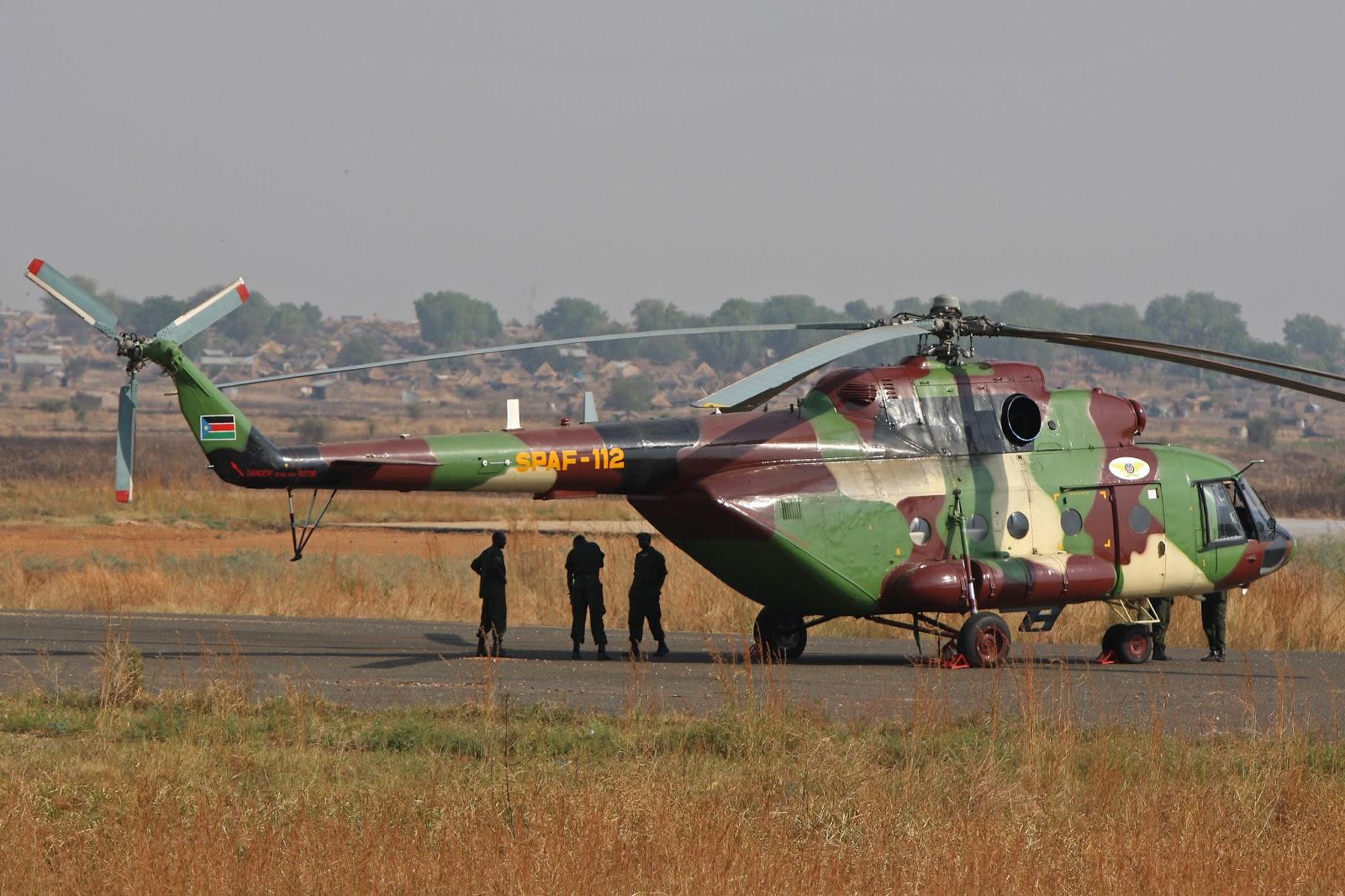 Armées du Sud Soudan MI-17V5+SPAF-112+SUDAN+SUR+RALPH+BLOK