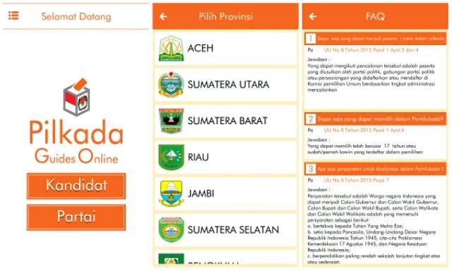 Aplikasi Pilkada di Android Pilkada GO