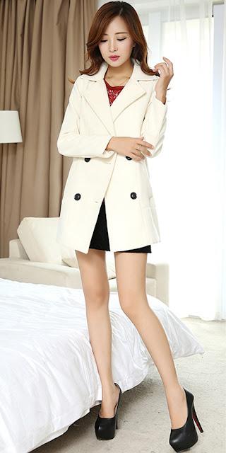 áo khoác dạ kiểu hàn quốc