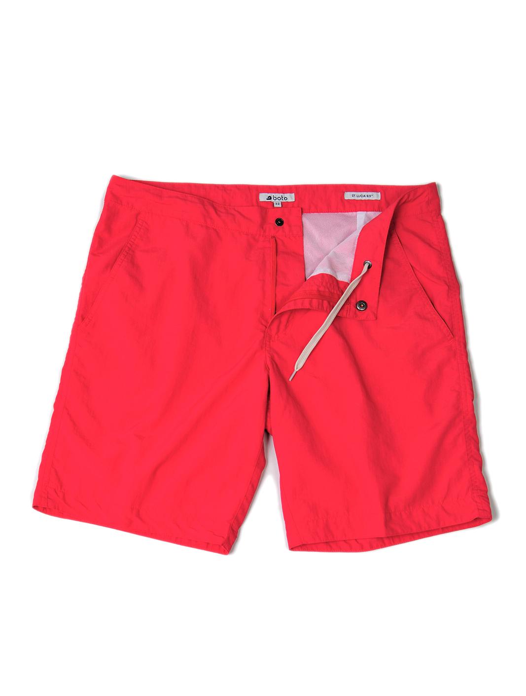 Coral Red Boto Swim Shorts