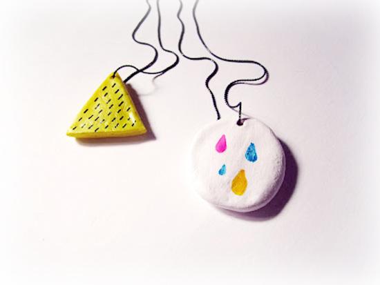 ceramic handmade pendant