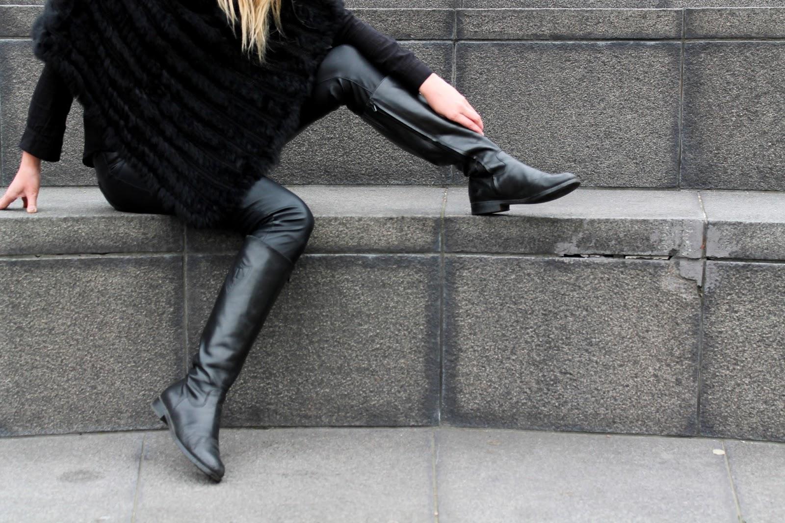 boots, pants, leather, nahka, housut, kengät, veromoda, tiger, sweden, marella, turkis, furr, poncho