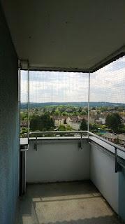 Balkon mit Katzenschutznetz Witten