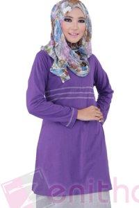 Zenitha Blus Zn118 - Ungu (Toko Jilbab dan Busana Muslimah Terbaru)