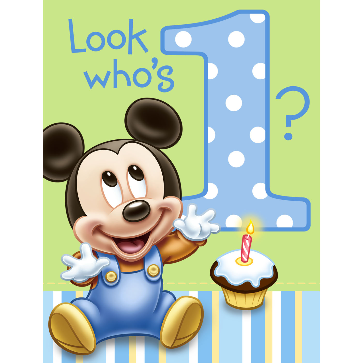 Baby Mickey Mouse 1St Birthday Invitations is perfect invitation template