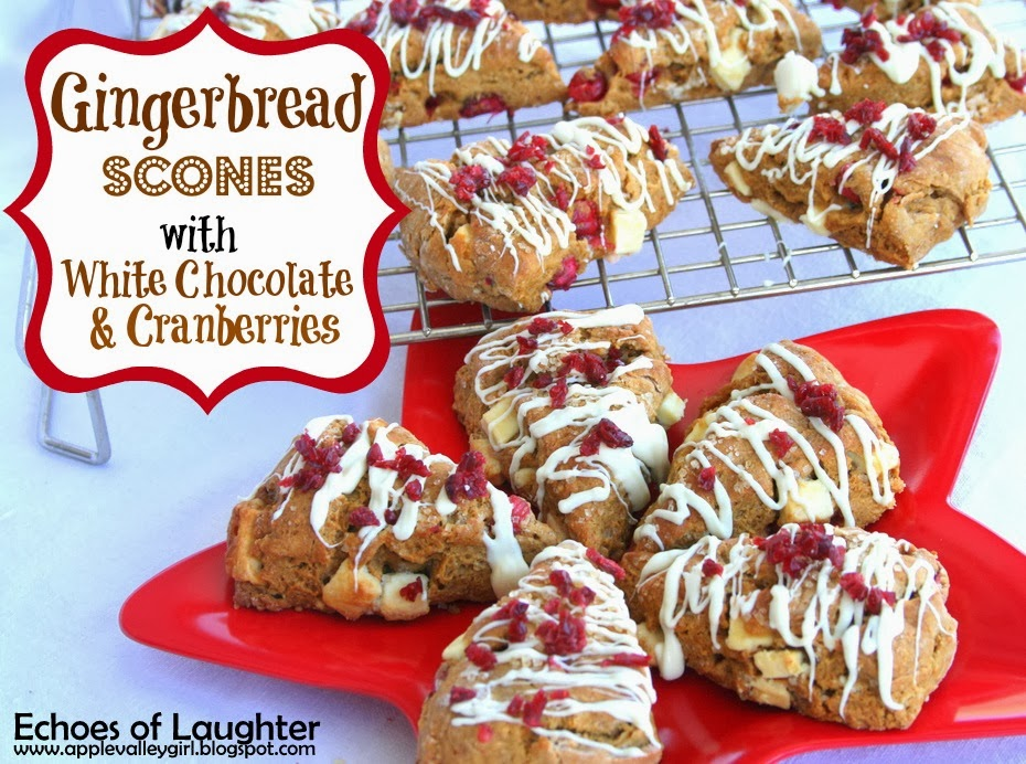 Gingerbread Scones with Cranberries & White Chocolate