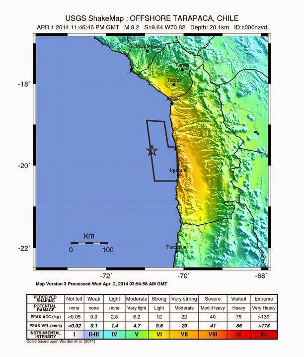 1960 Chile Earthquake Map.Quake Hunters Magnitude 8 2 Earthquake North Of Iquique Chile