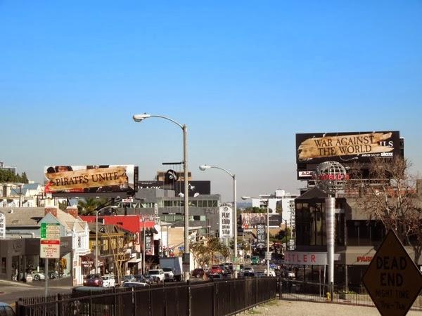 Pirates Unite War Against World Black Sails billboards Sunset Strip