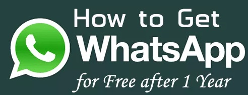 Now get Whatsapp for free after your first year