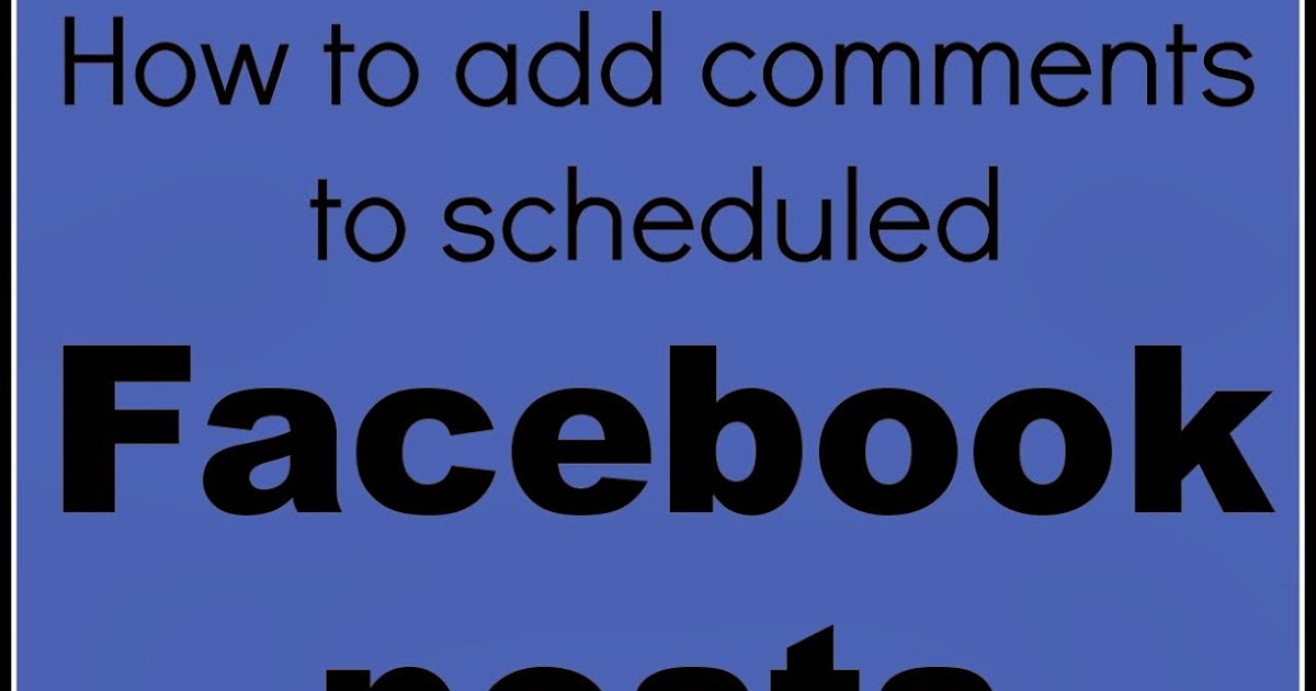 how to add comment on facebook