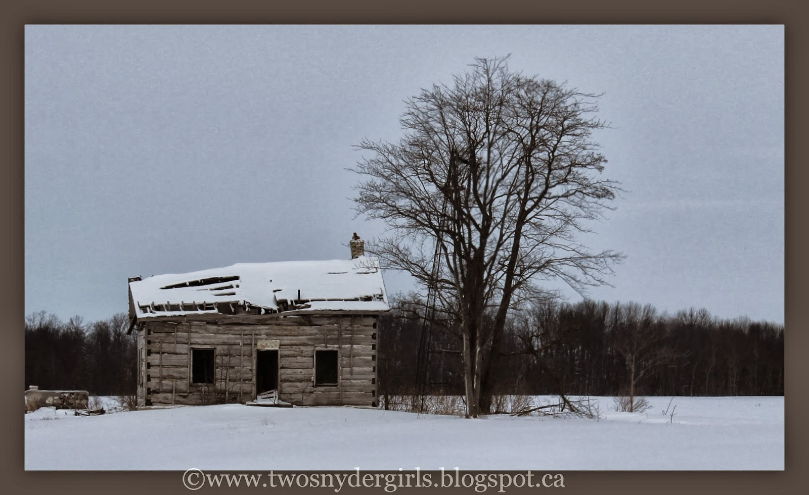 Abandoned farm house winter