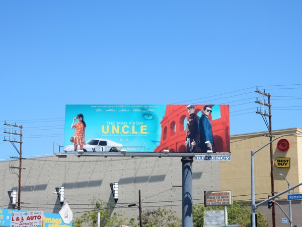 Man from UNCLE film billboard