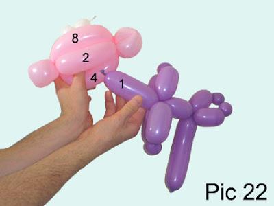 monkey balloon animal instructions