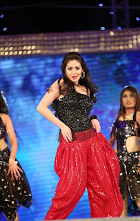 Sada in Sizzling Red Paijama and Black Sleeveless Top Dance Performance at Gama Awards 2015