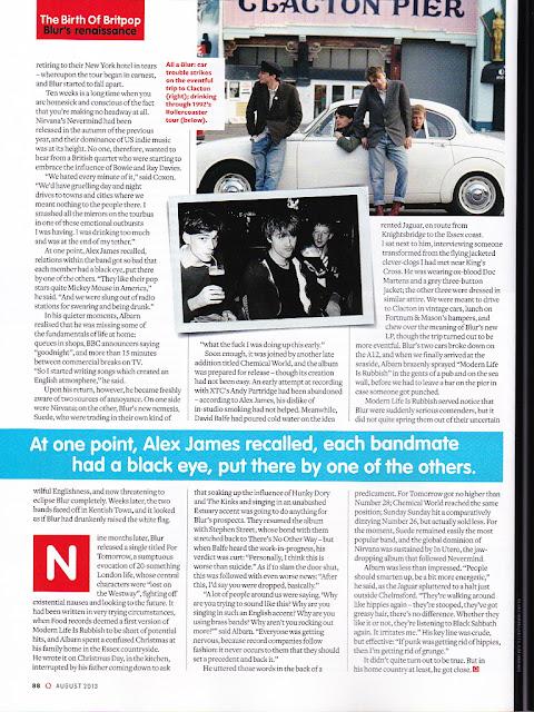 blur news 2013, blur magazine scan, Blur Q Magazine 2013, blur tour pictures, damon albarn 2013