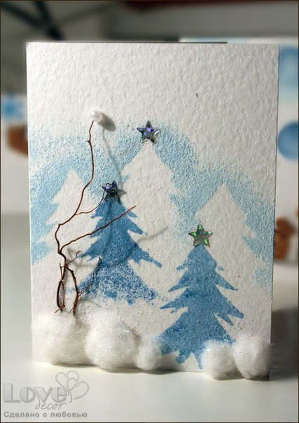 Handmade christmas card ideas home decorating ideas for Homemade christmas card ideas