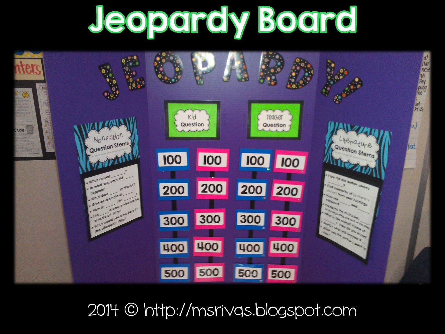 forkin4th: Make a Class Jeopardy Board!