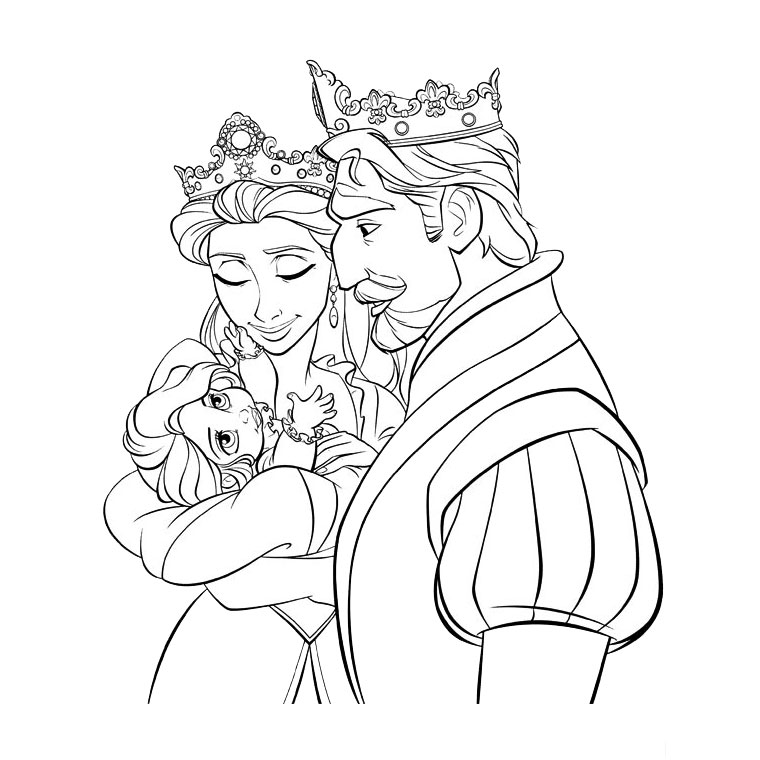 Princess Rapunzel Tangled Disney Coloring Pages Free Printable Disney Princess Coloring Pages