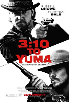 Film poster for Russell Crowe & Christian Bale western remake 3:10 To Yuma (2007)