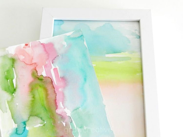 mini abstract watercolors by Elise Engh