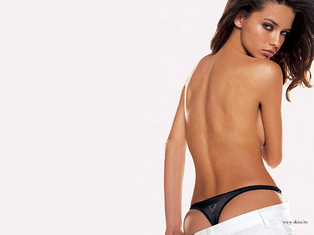 Adriana Lima hot back exposing in panties