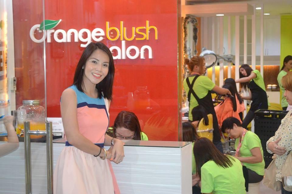 Get the latest hair trends at orange blush salon for Salon orange