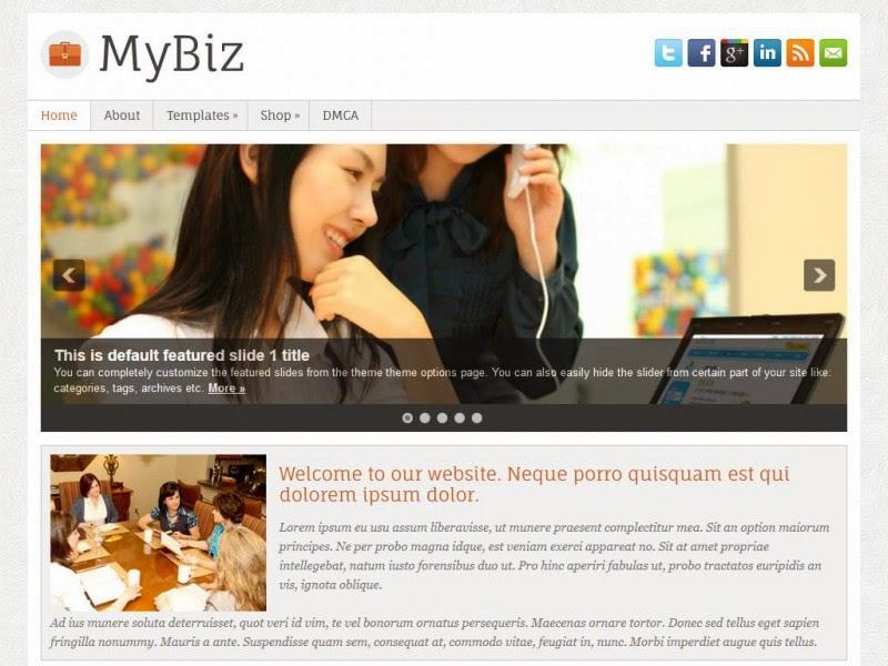 MyBiz - Free Wordpress Theme