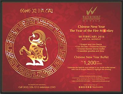 Celebrate The Year Of The Monkey At Manila Pavilion Hotel