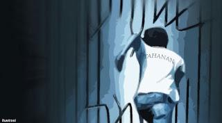 2 Tahanan Berhasil Kabur Walau Tangan Terborgol