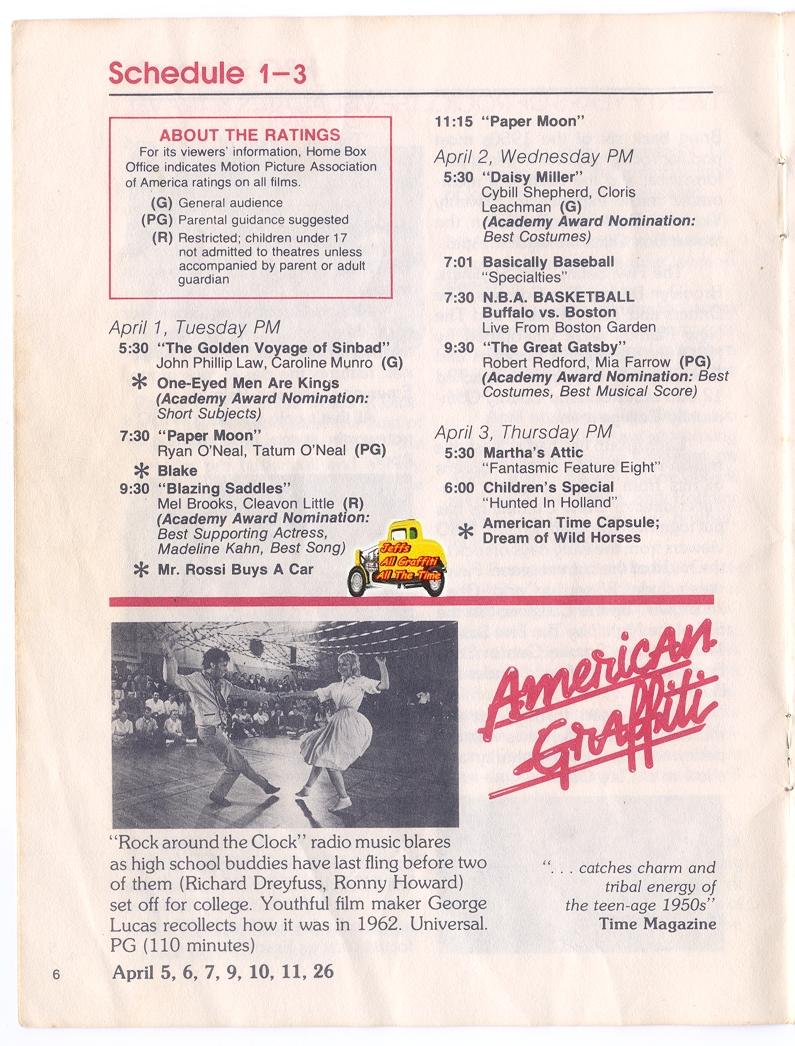 Home Box Office 1975   American Graffiti. HBO Caught The Graffiti Bug In  1975.