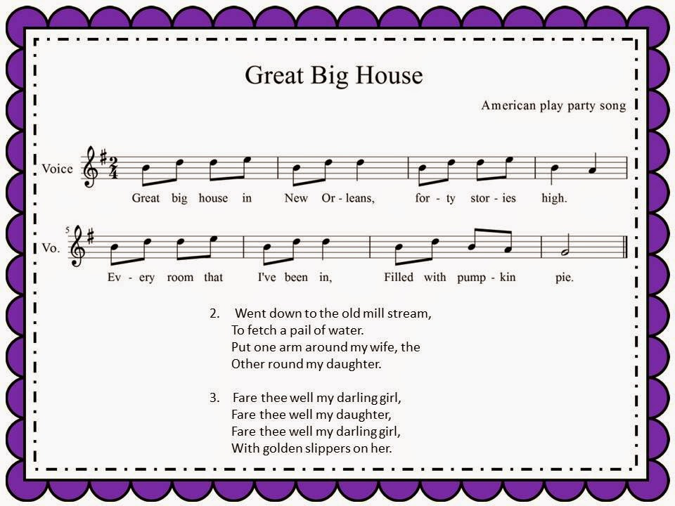 Music music music play parties and pie for Great house music