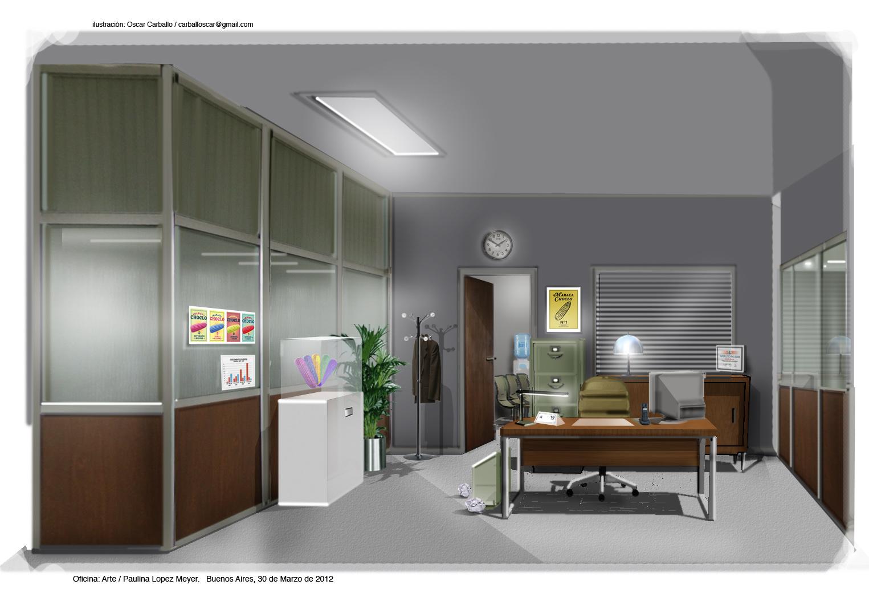 Oficina gris 2012 oscar carballo direcci n de arte for Direccion de la oficina