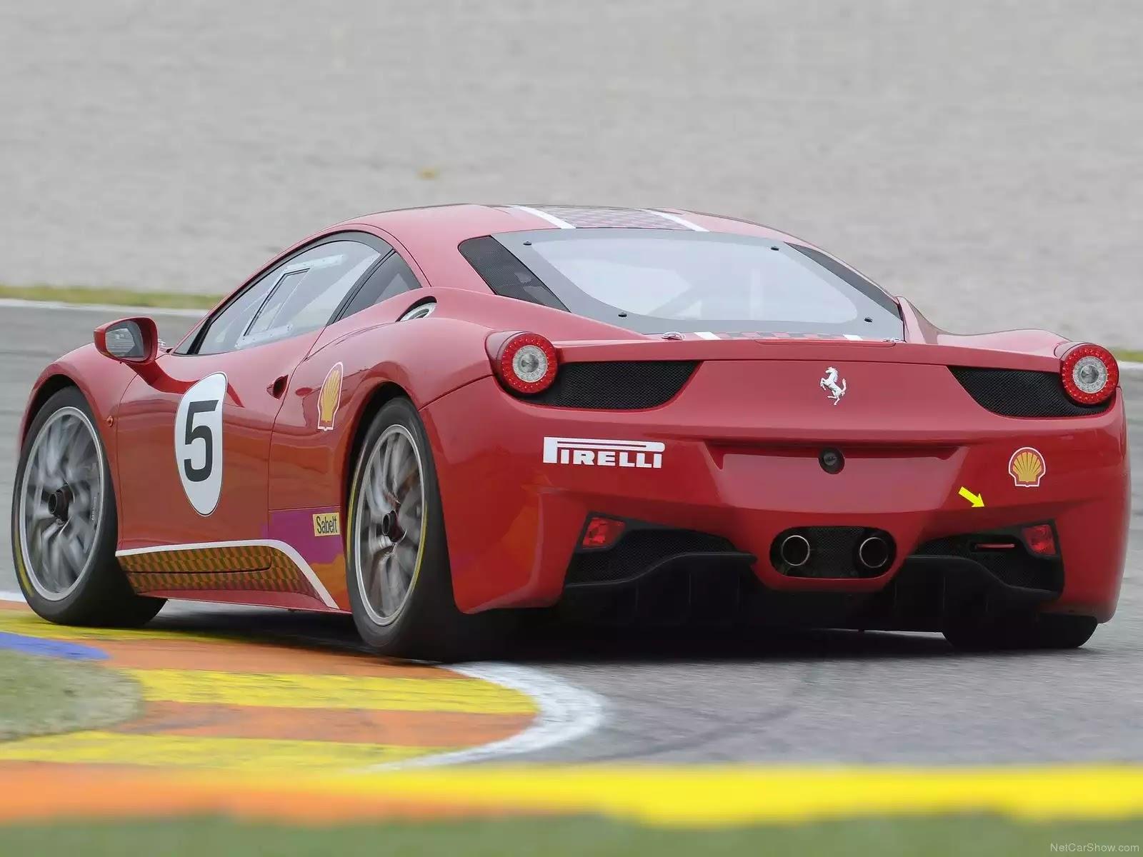 Hình ảnh siêu xe Ferrari 458 Challenge 2011 & nội ngoại thất