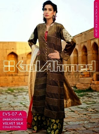 Embroidered Dresses Velvet Collection 2014