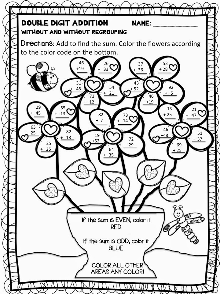 Double Digit Addition Without Regrouping Worksheets – Subtracting Three Digit Numbers with Regrouping Worksheets