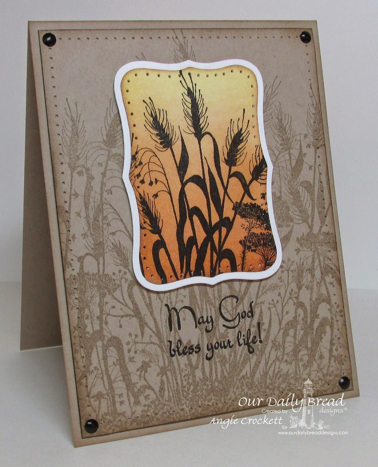 ODBD Wildflower Silhouette Background, ODBD Life is a Gift, Card Designer Angie Crockett