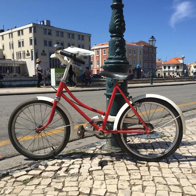 vintage, bicicleta, criança