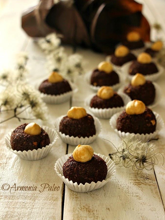 Baci al Cocco con Cacao e Nocciole di Armonia Paleo