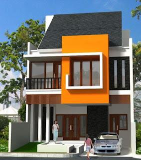 tentunya seseorang mencari rumah yang luasnya besar biar sanggup dibentuk dan digunakan apa sa Model Rumah Minimalis Bertingkat 2 Modern