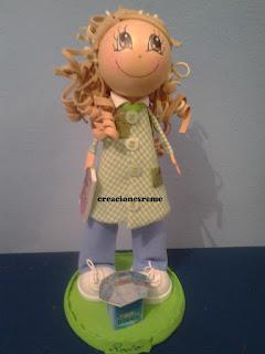 fofucha-creacionesreme-personalizadas-foami –muñequitas –rocio-valencia-dealcantara