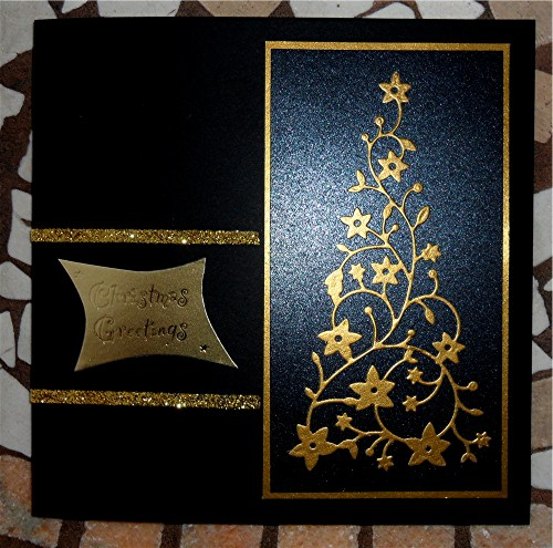 My Crafty Outlook Black And Gold Christmas