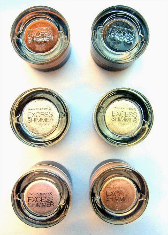 Max Factor Excess Shimmer Gel Eye Shadows