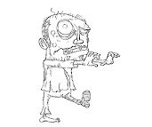 #1 The Walking Dead Coloring Page